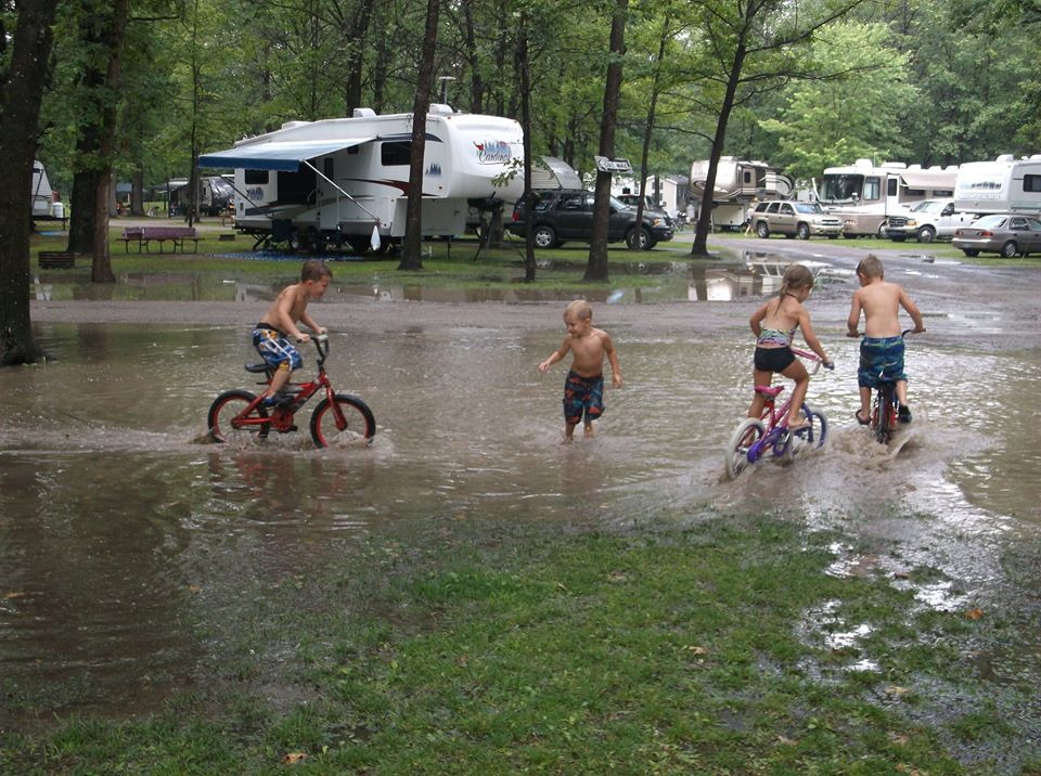 bikes in water